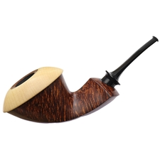 Sabina Santos Smooth Double Calabash with Maple