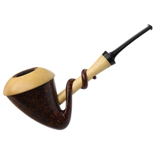 Sabina Santos Smooth Tadpole Calabash with Black and White Ebony (G)