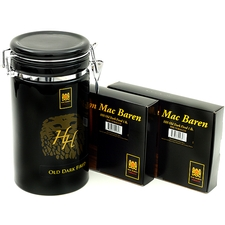 Mac Baren HH Old Dark Fired, two 1lb Boxes, with Black Ceramic Limited Edition Tobacco Jar
