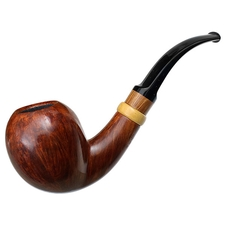 Danish Estates Bjarne Nielsen Handmade Smooth Bent Pear with Boxwood (C) (Unsmoked)