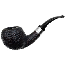 Danish Estates Stanwell Sandblasted Bent Apple with Silver (1980s-1990s)