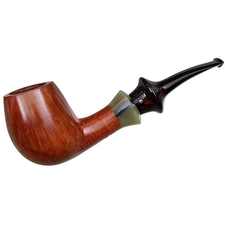 Danish Estates Kai Nielsen Smooth Bent Billiard with Horn (Jewel of Denmark) (D) (9mm) (Unsmoked)