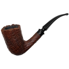 Danish Estates Celius Root Sandblasted Freehand Bent Dublin (Queen)