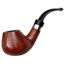 Danish Estates Peter Stokkebye Smooth Bent Brandy with Silver (E) (Unsmoked)