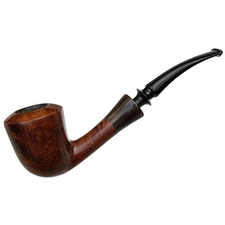 Danish Estates W.O. Larsen Smooth Bent Dublin with Horn (Super) (130)