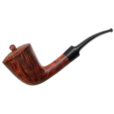 Danish Estates W. O. Larsen Handmade Bent Dublin with Briar Wind Cap (Special)