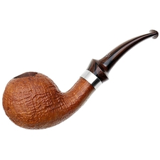 Danish Estates Tao Sandblasted Bent Apple with Silver (Unsmoked)