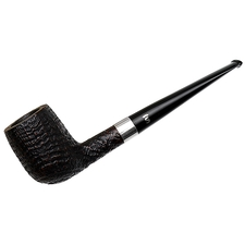 Danish Estates Stanwell Sandblasted Billiard with Silver (1970s-1990s)