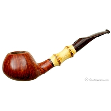 Danish Estates Kai Nielsen Straight Grain Smooth Bent Brandy with Bamboo (Jewel of Denmark)