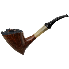 Danish Estates Lasse Skovgaard Smooth Pickaxe with Horn (2) (Unsmoked)