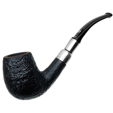 Danish Estates Stanwell Sterling Sandblasted Bent Billiard (pre-2010) (Unsmoked)