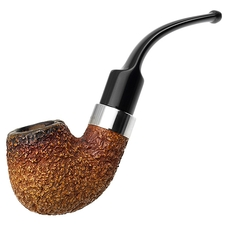 English Estates Barling African Meerschaum Rusticated Bent Billiard