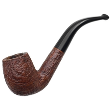 English Estates Captain Black Sandblasted Bent Billiard (BX116) (by Orlik) (pre-1980)