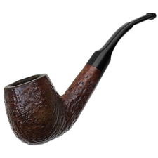 English Estates Charatan's Make Sandblasted Bent Billiard (311 DC) (1961-1965) (Replacement Stem)