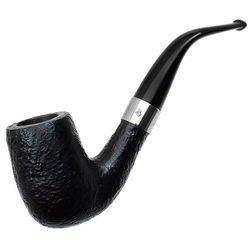 English Estates Hardcastle Hall Mark Sandblasted Bent Billiard (Aftermarket Band)