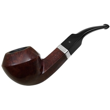 English Estates Hardcastle Walnut Smooth Bent Bulldog with Silver