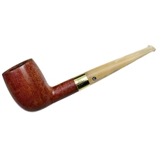 English Estates Comoy's Celebration Smooth Billiard with 18K Gold Band (59) (1976) (Unsmoked)