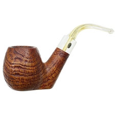 English Estates GBD Collector Granitan Bent Apple with Perspex Stem (9534) (pre-1980)