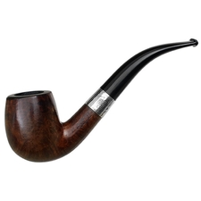 English Estates Comoy's Special Bent Billiard with Silver (1930) (Replacement Stem)