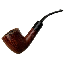 English Estates Dunhill Amber Flame Bent Dublin (DR) (Two Flame) (2002)