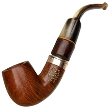 French Estates Terminus Smooth Bent Billiard with Cherry and Horn (Unsmoked)