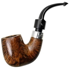 Irish Estates Peterson House Pipe Smooth Bent Billiard with Silver (P-Lip) (Unsmoked)