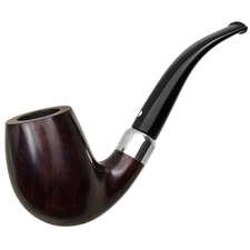 German Estates Bentley Former Design Smooth Bent Billiard with Silver (3-9.28) (9mm) (Unsmoked)