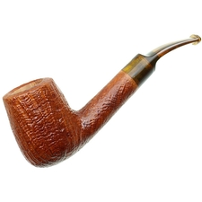 Italian Estates Savinelli Handmade Sandblasted Bent Billiard (6mm) (Unsmoked)
