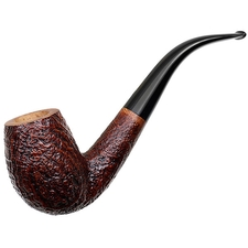 Italian Estates Ser Jacopo Sandblasted Bent Billiard (S2) (Unsmoked)