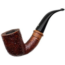 Italian Estates Ser Jacopo Sandblasted Bent Billiard (Delecta) (S2)