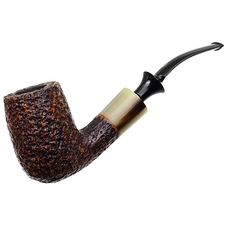 Italian Estates Savinelli Nonpareil Rusticated Bent Billiard (Unsmoked)