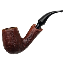 Italian Estates Savinelli Autograph Sandblasted Bent Billiard (5) (6mm)