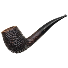 Italian Estates Savinelli Autograph Sandblasted Bent Billiard (4) (6mm)
