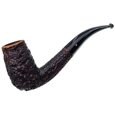 Italian Estates Radice Retro Rusticated Bent Billiard (G) (T/B) (Oil Cured) (2007) (Unsmoked)