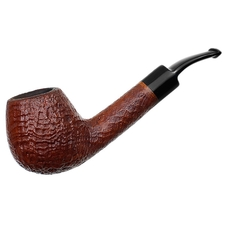 Italian Estates Savinelli Hand Made Sandblasted Bent Brandy (6mm)