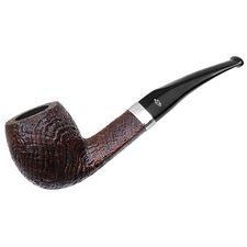 Italian Estates Savinelli Christmas 2012 Sandblasted Bent Acorn with Silver (6mm) (Unsmoked)