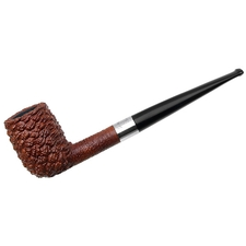Italian Estates Savinelli Le Mie Pipe Rusticated Billiard with Silver Band (Unsmoked)