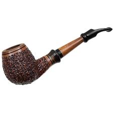 Italian Estates Ser Jacopo Picta Van Gogh Rusticated Bent Brandy with Horn (R1) (19)