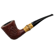 Italian Estates Savinelli Autograph Sandblasted Bent Dublin with Bamboo (5)