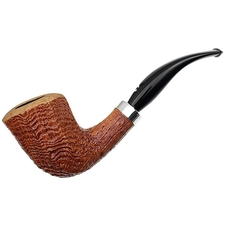 Italian Estates Il Ceppo Sandblasted Bent Dublin with Silver (1) (Unsmoked)