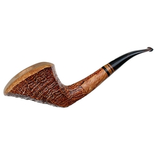 Italian Estates Luigi Viprati Collection Sandblasted Paneled Bent Dublin (Unsmoked)