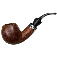 Italian Estates Rinaldo Collection Smooth Bent Apple with Silver (Egea 03) (SL-12)