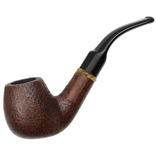 Italian Estates La Rocca Lino Sandblasted Bent Billiard (Unsmoked)