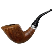 Italian Estates Stefano Santambrogio Smooth Bent Dublin with Silver (XX) (9mm)
