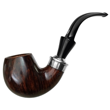 Italian Estates Mastro de Paja Smooth Bent Billiard with Silver (L) (Unsmoked)