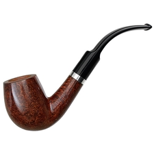 Italian Estates Ser Jacopo Smooth Bent Billiard with Silver (L1) (R) (Unsmoked)