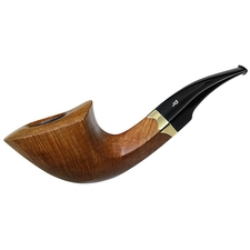 Italian Estates Rinaldo Titania Collection Smooth Bent Dublin with 18K Gold (Fiammata) (Acron) (02)
