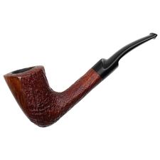 Italian Estates Savinelli Autograph Partially Sandblasted Bent Dublin (3P)