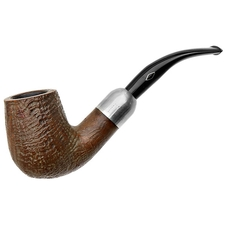Italian Estates Brebbia Sandblasted Bent Billiard with Silver