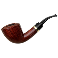Italian Estates Ser Jacopo Gem Series Bent Dublin with Gold Band (Granato) (Unsmoked)